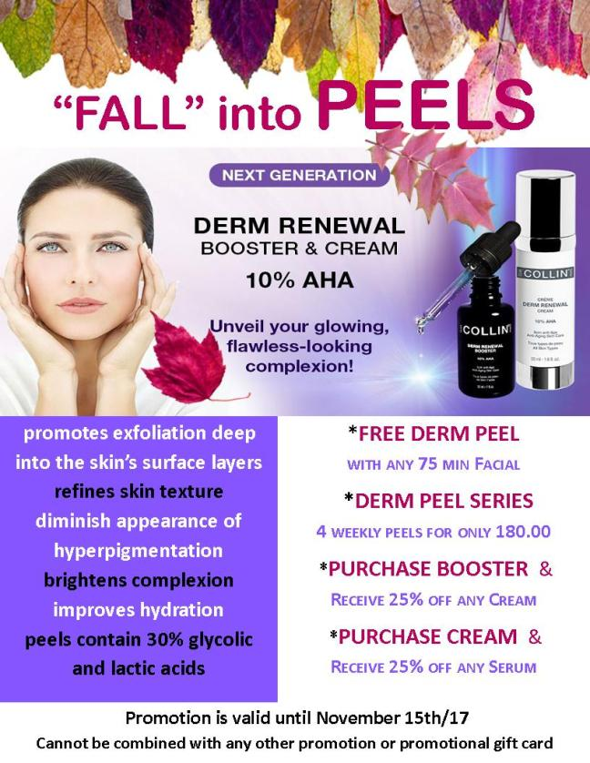 Fall Peel Promotion